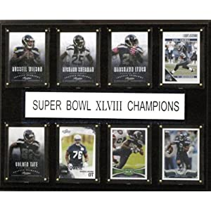 C&I Collectables NFL Seattle Seahawks Super Bowl XLVIII 8-Card Plaque