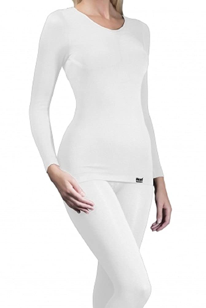1 No. Ladies GENUINE Original Thermal Tog Heat Holders Long Sleeve Vest - WHITE available in S/M & L/XL