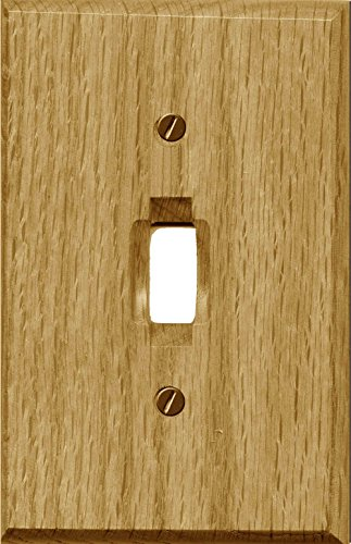 Runwireless Traditional Light Oak Wood, Switch plate, Wall plate, Cover, 4-430 (Single Toggle 4-430T Pack of ()