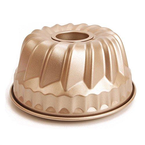 MyLifeUNIT Kugelhopf Mold, Non Stick Bundt Pan, 7-inch 1 Quart Capacity (Mold Kugelhopf)