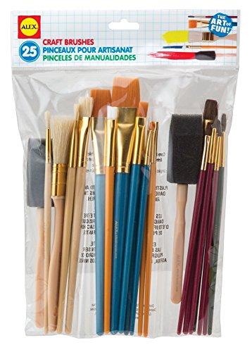 Alex Artist Studio 25 Craft Brushes Kids Art Supplies