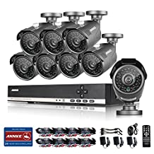 ANNKE 8CH 1080N HD DVR Security Camera System with 8 x 960P Indoor/Outdoor Day/Night Bullet Surveillance Cameras, HDMI/VGA/BNC Multi Output, IP66 Weatherproof, P2P Remote and Motion Detection (No HDD)