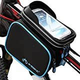INBIKE Top Tube Bag, Waterproof Bicycle Front Frame Pannier Bag With Touch Screen Phone Case 5.7