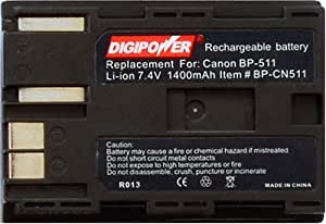Digipower BP-CN511 Replacement Li-Ion Battery for Canon BP-511