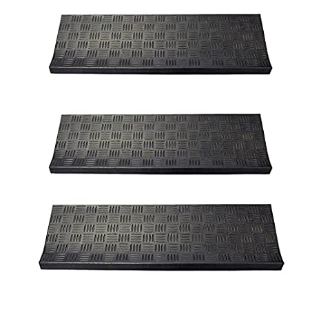 Envelor Home And Garden Non Slip Rubber Stair Treads In Various Designs (3  Pack