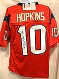 DeAndre Hopkins Houston Texans Signed Autograph Red Custom Jersey JSA Wintessed Certified
