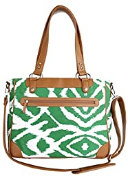 Kailo Chic Camera and Laptop Tote in Emerald Ikat