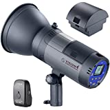 Neewer Battery Powered (700 Full Power flashes) Outdoor Studio Flash Strobe with 2.4G System(Trigger included), German Engineered, 3.96 Pounds, Vision 4 for Location Shooting, 2 Packs Li-ion Battery