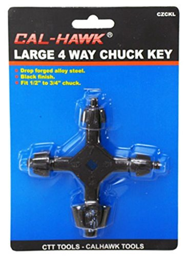 4-Way Chuck Key Large for Drill Presses 3/8