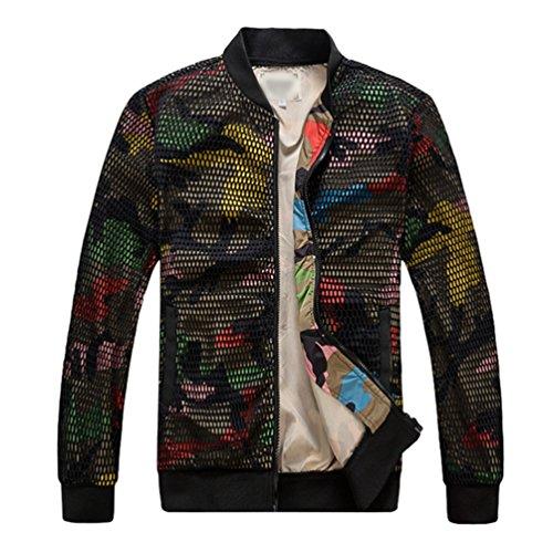 Aviateur Manches Homme Yiiquan Zipper Bomber Veste Flight Image Manteau Camouflage Blouson Jacket Comme Longues 8zUBH