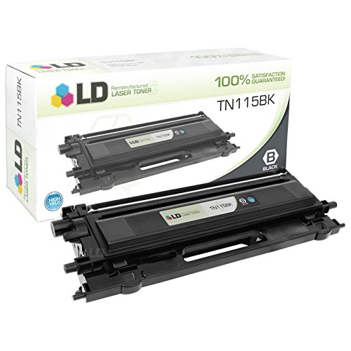 LD Remanufactured Toner Cartridge Replacement for Brother TN115BK High Yield (Black)