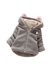 YOUJIA Baby Girl Lamby Coat Lightweight Hooded Overcoat Jacket