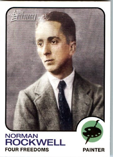 2008 Topps American Heritage #66 Norman Rockwell ( Four Freedoms )( Artist ) Trading Card in Protective Screwdown Display