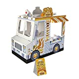 Melissa & Doug 5510 Food Truck Indoor Corrugate Playhouse, Over 4' Long