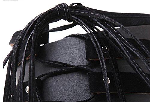 Scarpe YCMDM DONNE tacchi alti stivali scarpe primavera Sexy Tie tacco alto bellezza Boots singolo , black , 40
