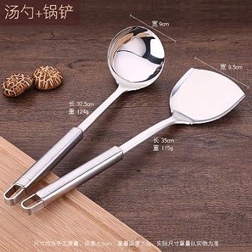 Conjunto de vajilla, ollas y sartenes, vajilla de acero inoxidable de la casa, sartén, cuchillo de cocina occidental, utensilios de cocina, ...