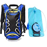 Juboury Hydration Backpack with Free 2L Water Bladder Reservoirs, 15L Hydration Rucksack Bag, All Weather Cover for Running, Hiking, Biking