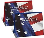 2020 P, D U.S. Mint Uncirculated 20 Coin Mint Set with CoA Uncirculated