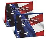 2020 P, D U.S. Mint Uncirculated 20 Coin Mint Set
