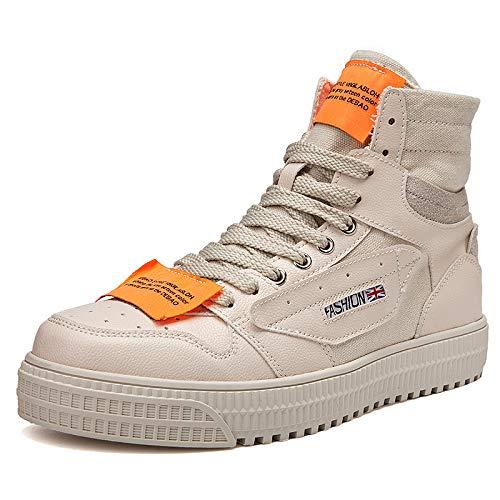 AIMENGA High-Top-Plattform Schuhe Leinwand Schuhe Mode Schuhe High-Top-Plattform Männer High-Top-Plattform Leinwand Schuhe Student Sportschuhe 917547