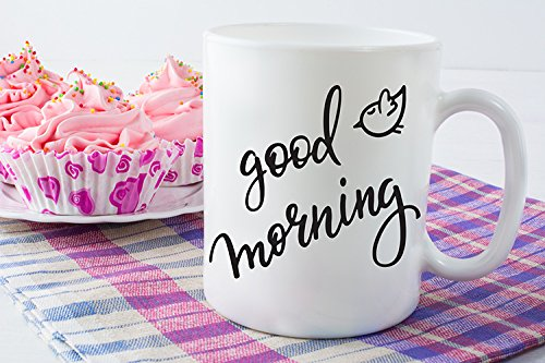 Amazoncom Good Morning Coffee Mug With Bird Mom Coffee Mug Cute