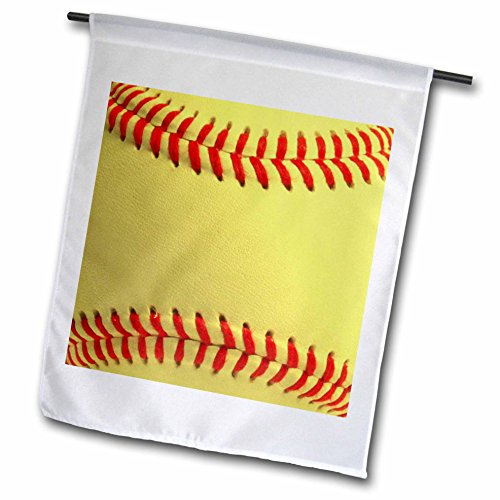 InspirationzStore Sports – Softball close-up photography print – yellow and red soft ball for sporty sport fans team players – 18 x 27 inch Garden Flag (fl_120271_2) Review