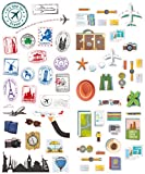 : Polaroid Colorful & Decorative Travel Stickers for Zink 2x3 Photo Paper Projects (Snap, Zip, Z2300, POP) - 2 Unique Sheets