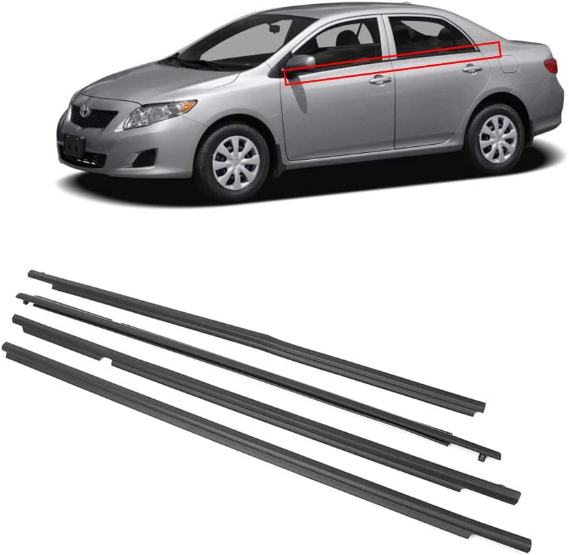 4pcs Outside Window Moulding Trims Weatherstrips For Toyota Camry 2007-2011