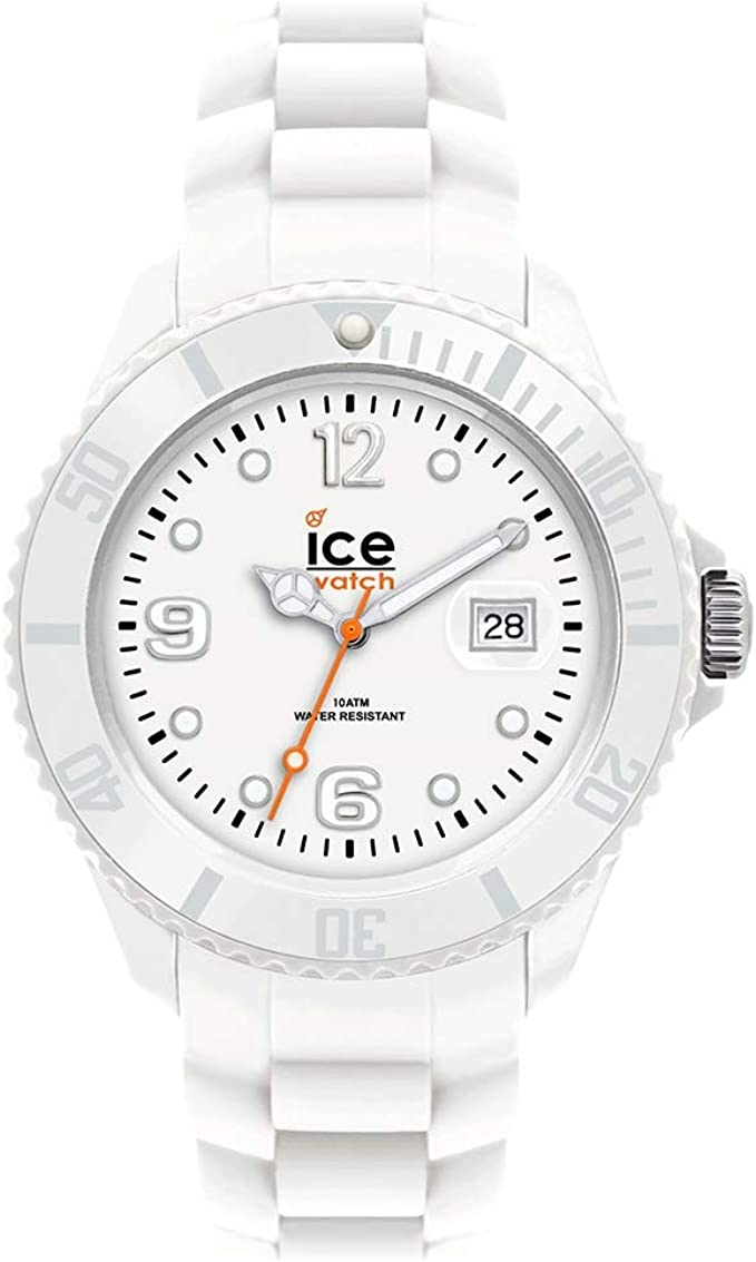 Ice-Watch Unisex SI.WE.US09 Sili Collection White Plastic and Silicone Watch