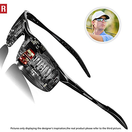 Rocknight Driving Polarized Sunglasses For Men UV Protection Mirrored Sunglasses Ultra Lightweight Al-Mg Metal Outdoor Golf Fishing Sunglasses - Sunglasses Mirrored