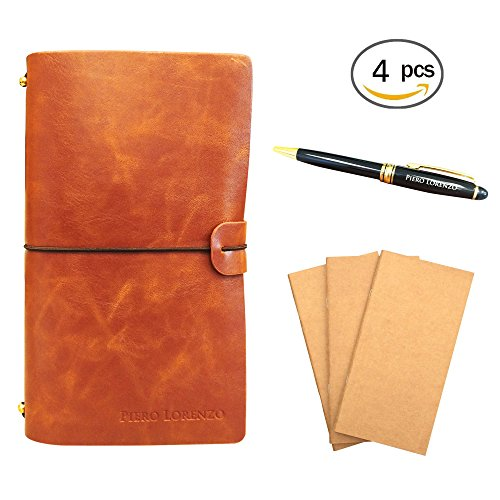Journals to Write In – Handmade Leather Journal Refillable, Perfect for Writing, Gifts,Sketching, Professional, Diary, Notebook with Pen included in G…