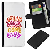 [Neutron-Star] Colorful Pattern Flip Wallet Leather Holster Holster Protective Skin Case Cover For Sony Xperia Z1 L39 [Hippie Funky Motivational Minimalist]