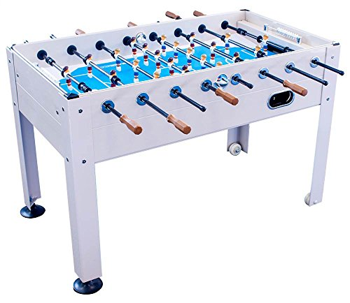 Park & Sun Sports Blue Sky Beachwood Indoor/Outdoor Weatherproof Foosball/Soccer Game Table