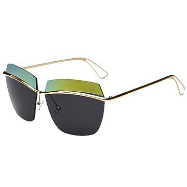 c3725b722e6d23 Moin Oversize Sonnenbrille Damen ohne Rahmen Rahmenlose Sonnenbrille mit  spiegelnden Gläsern erhältlich in verschiedenen Farben C5