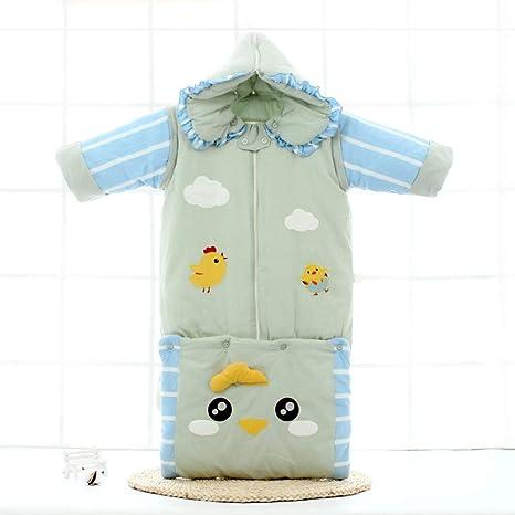 LLX Saco De Dormir Desmontable De Gorro Y Manga Bebé,Sacos De Abrigo De Algodón