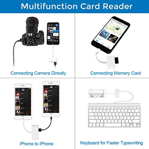 Lightning to SD Card Reader, Lightning to USB Camera Adapter, Trail Game Camera Viewer for iPhone X/8 Plus/8/7 Plus/7/6s Plus/6s/6 Plus/6/5 iPad Mini/Air by XMGBJYTQ (Image #4)