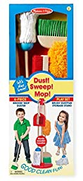 Melissa & Doug Let\'s Play House Dust! Sweep! Mop! 6-Piece Pretend Play Set
