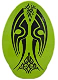 Rubber Top Wooden Skimboard With Slip Free Grip (No Wax Needed!) (Green3, 30 Inch)