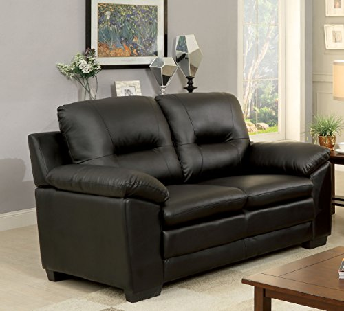 Furniture Of America Stewart Leatherette Love Seat Best Sofas Online Usa