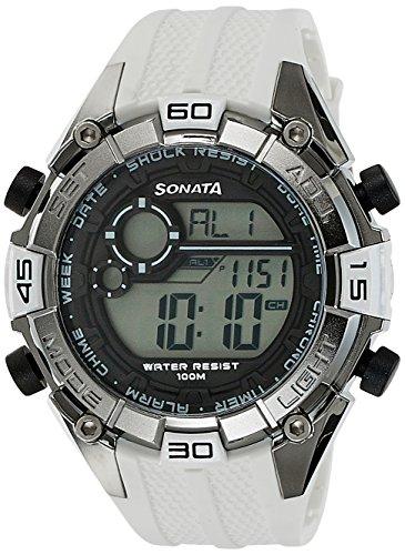 Sonata Ocean Series III Digital Grey Dial Unisex Watch   NG77026PP02J / NG77026PP02J