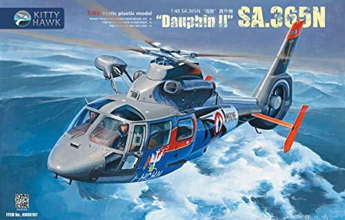 Kitty Hawk KH80107 Sa.365N Dauphin II Helicopter Model Kit