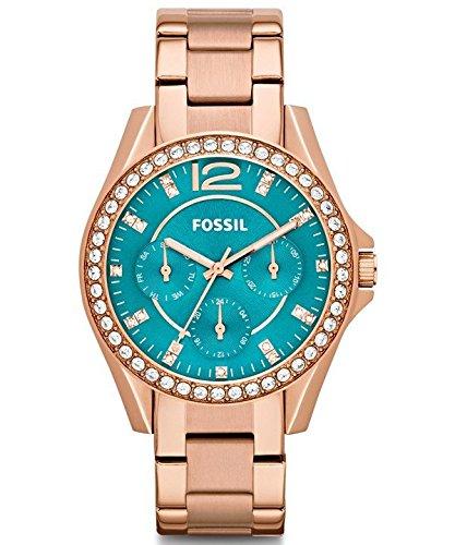 Fossil ES3385 - Reloj de pulsera para Mujer, azul/oro rosa