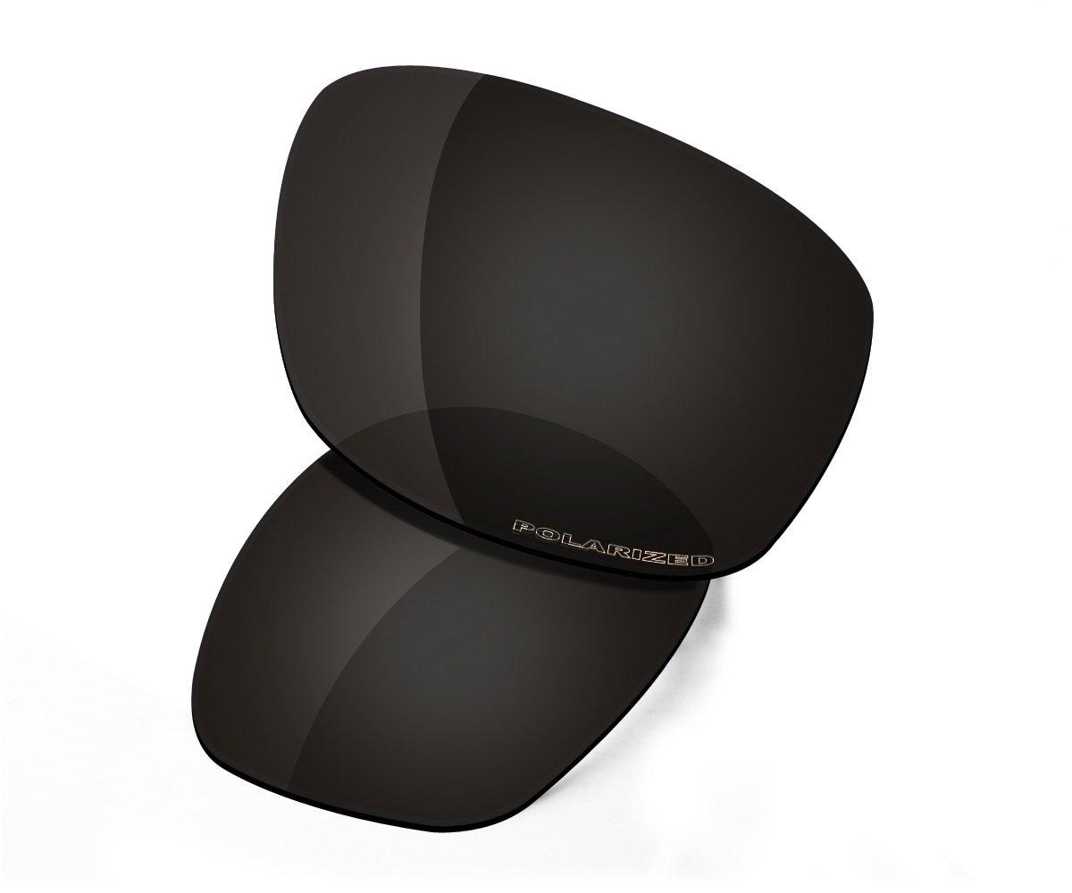 Saucer Premium Replacement Lenses & Rubber Kits for Oakley Ten X Sunglasses High Defense - Carbon Black Polarized