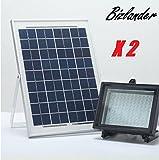 BIZLANDER MASSIVE 108 LED SOLAR SPOT FLOOD LIGHT FOR SIGN GARDEN BILLBOARD NOTICE BOARD CAMPER VAN X2Pack