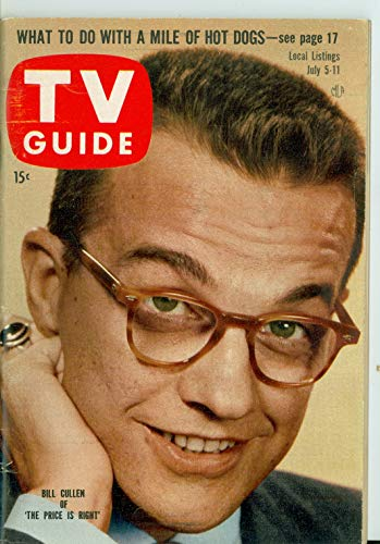 1958 TV Guide Jul 5 Bill Cullen - Philadelphia Edition Near-Mint (7 out of 10) Very Lightly Used by Mickeys Pubs