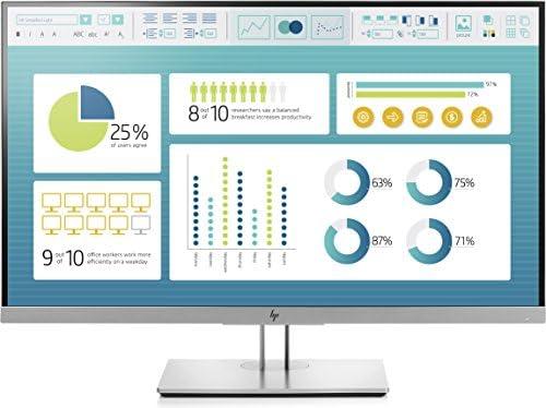 "HP EliteDisplay E273 | 27"" Monitor | HD IPS Screen | Silver | 1FH50A8"