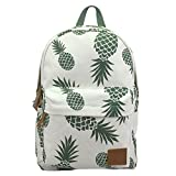 AOAKY Backpack Pineapple School Bookbag Lightweight Canvas College Bags Deal (Small Image)