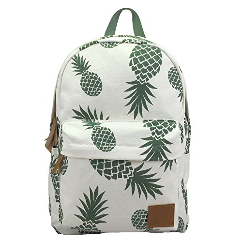 AOAKY Backpacks Pineapple School Bookbag Cactus Daypack Lightweight Canvas...