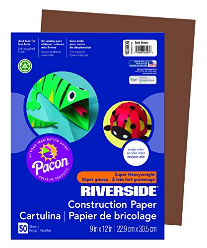 Brown Construction Paper (Riverside 3D Construction Paper, Dark Brown, 9