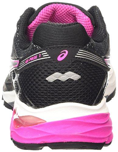 Asics Gel-Pulse 7, Women's Running Shoes Black (Black/Pink Glow/Silver 9035)